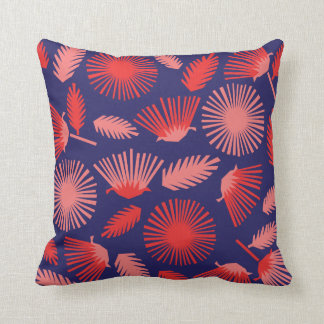 Papercut Daisies on Royal Blue Throw Pillow