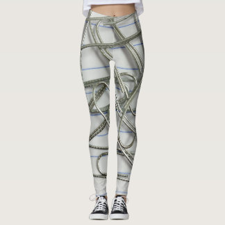 Papers and Silver Clips Leggings