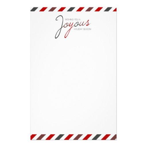 Papeterie de fête de rayure joyeuse de sucrerie papier à lettre