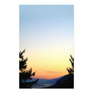 Papeterie de lever de soleil de gorge de Colombie Papiers À Lettres