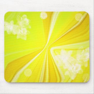 papeterie jaune de carte de voeux de l'arrière - tapis de souris