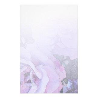 Papeterie légère de roses de lavande papiers à lettres