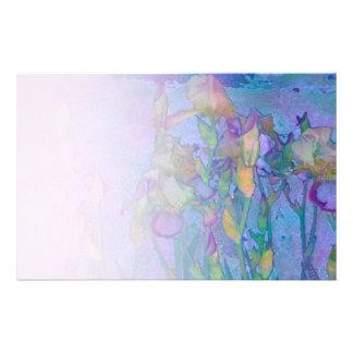 Papeterie pâle de mélange de la rangée 2 d'iris