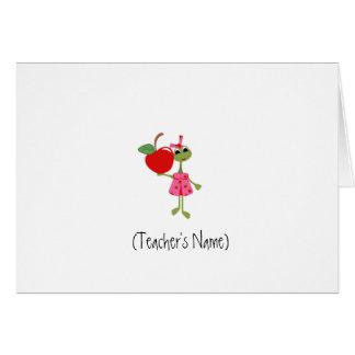 Papeterie personnalisée de professeur cartes de vœux