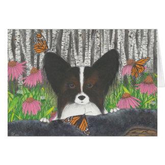 Papi, the Papillon Card