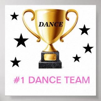Papier d'affiche de valeur d'équipe de la danse #1