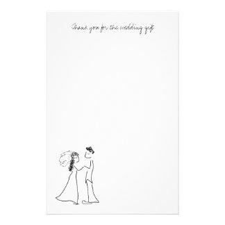 Papier de note mignon de Merci de couples Papier À Lettre