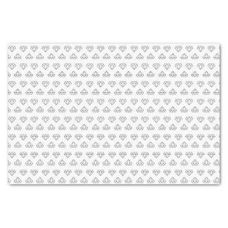 Papier de soie de soie de motif de diamant