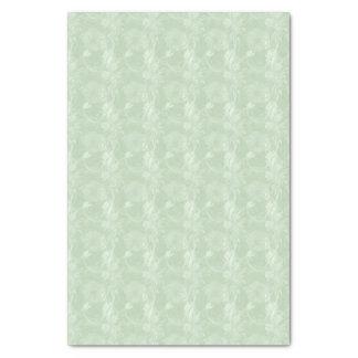 Papier de soie de soie floral de vert sauge doux