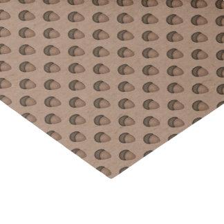 Papier de soie de soie modelé par gland bronzage