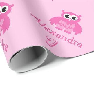 Papier d'emballage de hibou de ęr bébé mignon papiers cadeaux noël