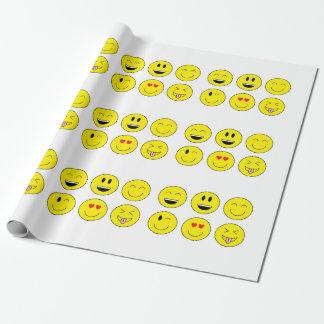 Papier d'emballage d'Emoji Papiers Cadeaux Noël