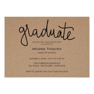 Papier d'emballage rustique de typographie carton d'invitation  12,7 cm x 17,78 cm