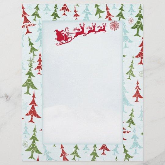 Papier En Tête De Lettre De Père Noël De Lettre D Arbre