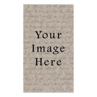 Papier parcheminé bronzage pâle vintage des textes carte de visite standard