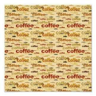 Papier peint de café tirages photo