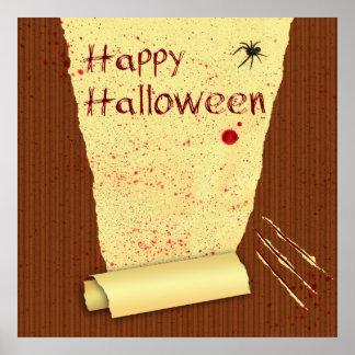 Papier peint sanglant heureux de Halloween - Poster
