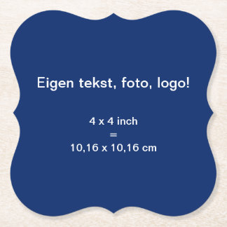 Papieren Onderzetter Bracket uni Blauw Paper Coaster