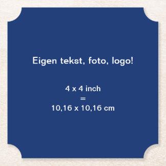 Papieren Onderzetter Ticket uni Blauw Paper Coaster