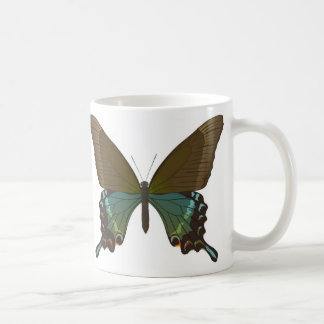 Papilio maackii classic white coffee mug