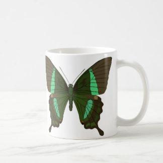 papilio palinurus classic white coffee mug