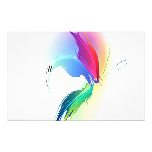 papillon abstrait d 39 claboussure de peinture papeterie zazzle. Black Bedroom Furniture Sets. Home Design Ideas