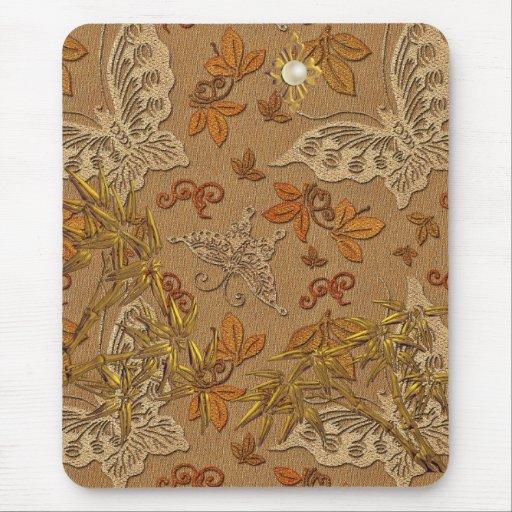 Papillon beige 2 d'or de Mousepad Tapis De Souris