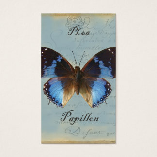 Papillon bleu business card