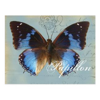 Papillon bleu postcard
