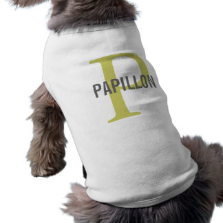 Papillon Breed Monogram Design Doggie Shirt