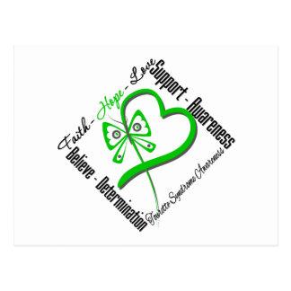 Papillon d'amour d'espoir de foi - syndrome de carte postale
