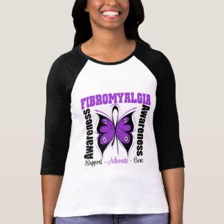 Papillon de conscience de fibromyalgie t-shirts
