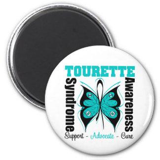 Papillon de conscience de syndrome de Tourette Magnets Pour Réfrigérateur