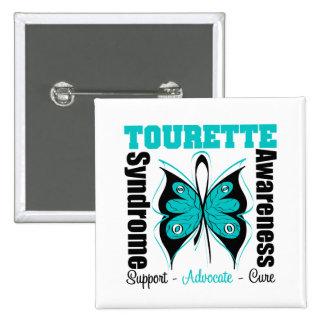 Papillon de conscience de syndrome de Tourette Badges
