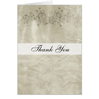 Papillon de papier vintage de carte de remerciemen