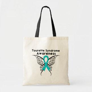 Papillon de tatouage de conscience de syndrome de  sac en toile budget