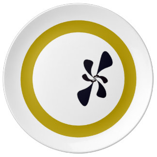 Papillon design porcelain plates