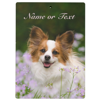 Papillon Dog Cute Romantic Portrait - Personalized Clipboards
