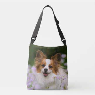 Papillon Dog Cute Romantic Potrait Photo - on Crossbody Bag