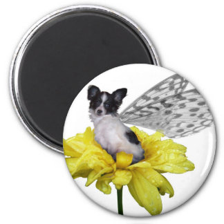 Papillon Dog Fairy Magnet