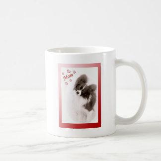 Papillon Dog Love for Mom Coffee Mug