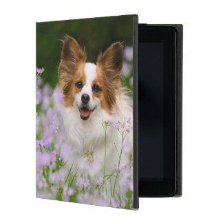 Papillon Dog Romantic Portrait protective Hardcase iPad Folio Case