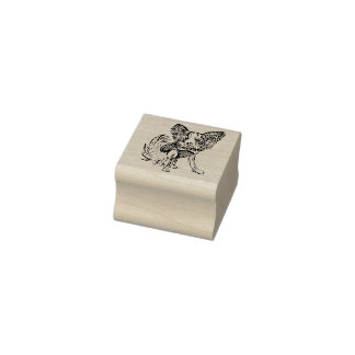 Papillon Dog Rubber Stamp Macy1