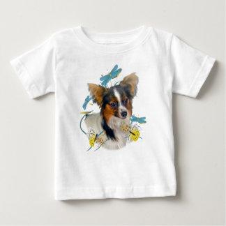 Papillon Dragonfly Portrait Baby T-Shirt