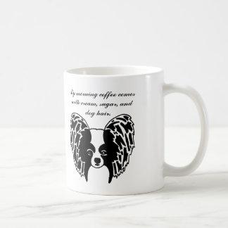 Papillon face mug