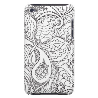 Papillon floral décoratif - le multiple colore étui barely there iPod