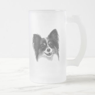 Papillon Frosted Glass Beer Mug