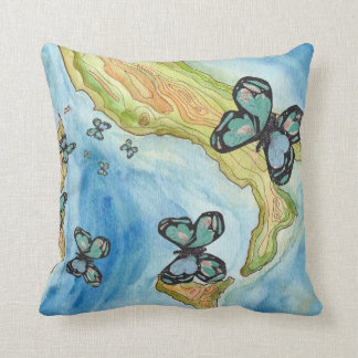 Papillon Goes to Rome Throw Pillow