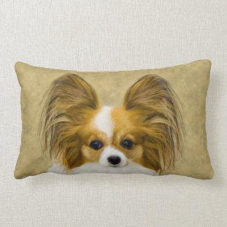 Papillon (Hound Tri Color) Lumbar Pillow
