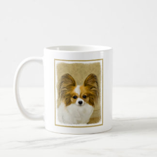 Papillon (Hound Tri) Painting - Original Dog Art Coffee Mug